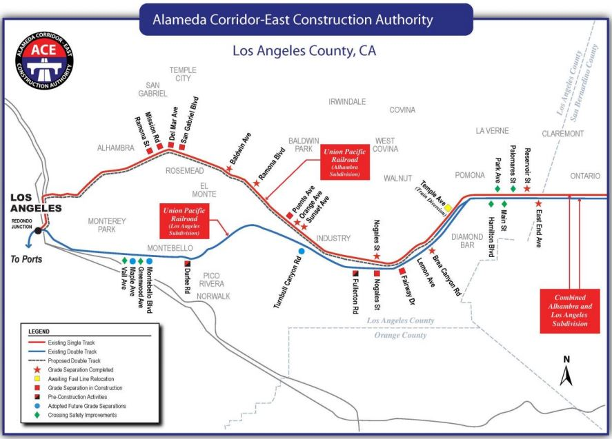 Next Stops for the Alameda Corridor East - Montebello, Maple and Turnbull Canyon Grade Separations